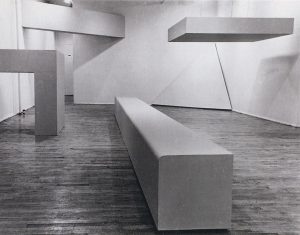 Robert Morris, Exhibition at the Dwan Gallery. Installation View, 1966.