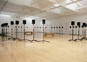 Figure 2. Janet Cardiff's installation The Forty Part Motet.